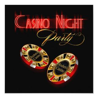 Vegas Casino Night ASK ME 2 PUT YOUR NAME ON CHIPS Invitation