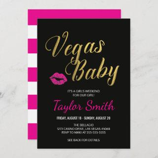 Vegas Itinerary Invitations