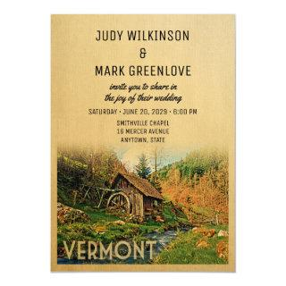 Vermont Wedding Invitations Rustic Cabin Mill