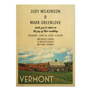 Vermont Wedding Invitation Vintage Mid-Century