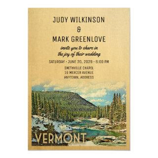 Vermont Wedding Invitations Vintage Nature