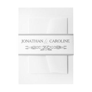 Versailles Grey | Elegant Traditional Wedding Invitation Belly Band