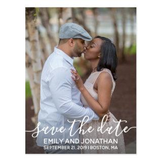 Vertical Photo Wedding Save The Date Postcard