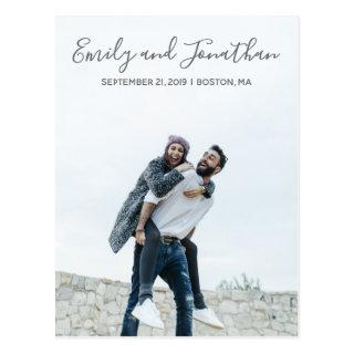 Vertical Picture Wedding Save The Date Postcard