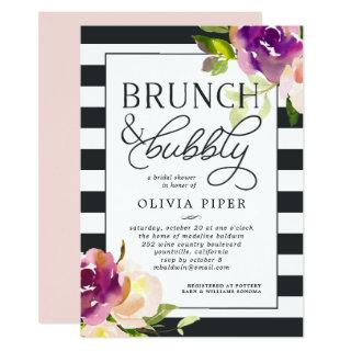 Vibrant Bloom Brunch & Bubbly Bridal Shower Invite