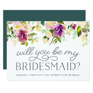 Vibrant Bloom | Will You Be My Bridesmaid Card