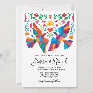 Vibrant Mexican Inspired Birds and Floral Invites