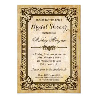 Victorian Bridal Shower - Vintage Antique Frame Invitation
