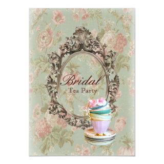 victorian floral botanical bridal shower tea party Invitations