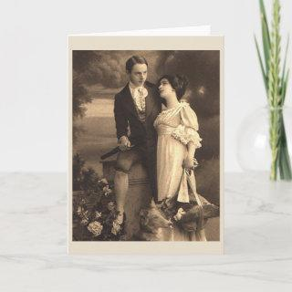 Victorian Lovers Anniversary or Wedding Card