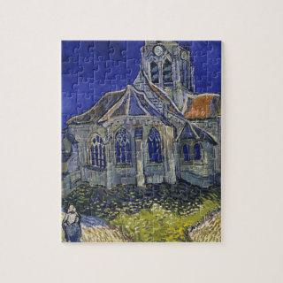 Vincent Van Gogh - The Church at Auvers Jigsaw Puzzle