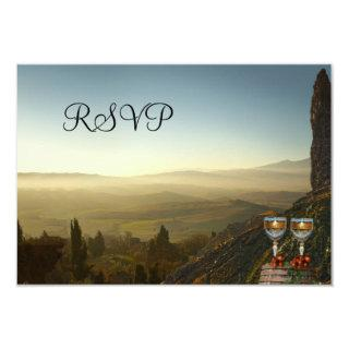 Vineyard Winery or Wine Theme RSVP Card