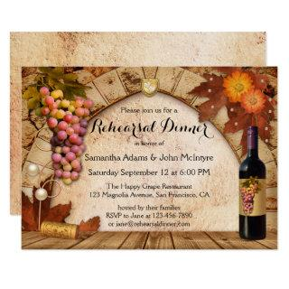 Vineyard Winery Wine Rehearsal Dinner Invitation