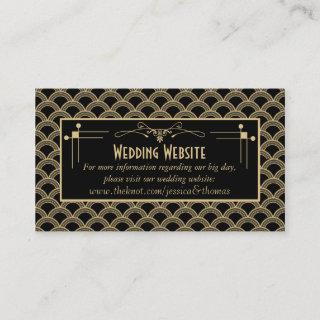 Vintage 1920's Art Deco Gatsby Wedding Collection Enclosure Card