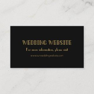Vintage 1920s art deco simple wedding website card