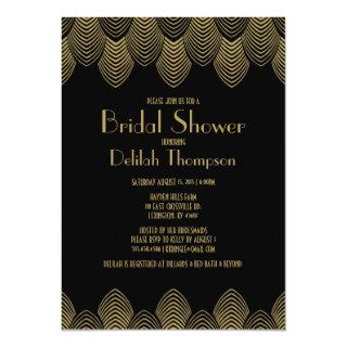 Vintage 20's Art Deco Bridal Shower Invitations
