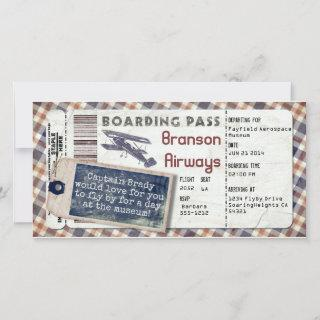 Vintage Airplane Boarding Pass 2