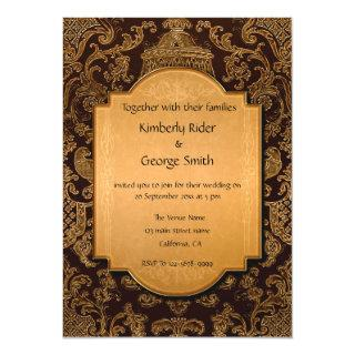 Vintage Arabic Frame Wedding Invitations