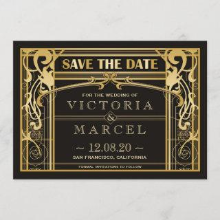 Vintage Art Deco Great Gatsby Save The Date