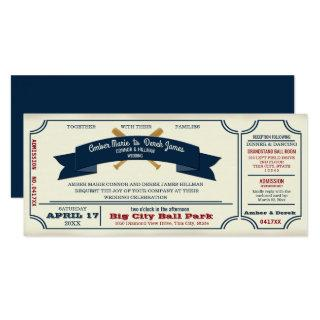 Vintage Baseball Wedding Invitations