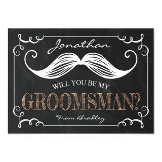 Vintage Be My Groomsmen | Groomsman Invitations