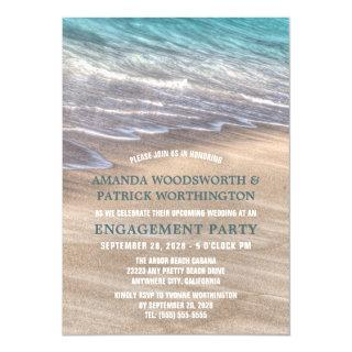Vintage Beach Waves Engagement Party Invitations