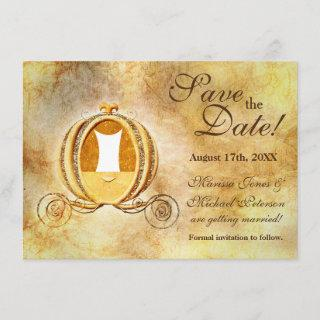 Vintage Cinderella Carriage Save the Date Card