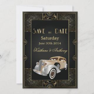 Vintage Classic Gatsby Style Save the Date
