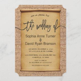 Vintage Egyptian Papyrus Wedding Invite