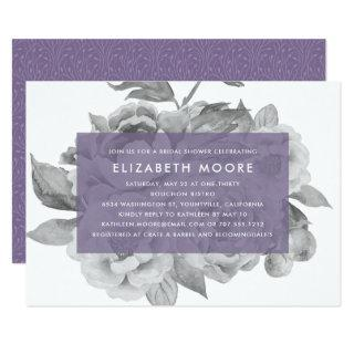 Vintage Floral Bridal Shower Invitations | Violet