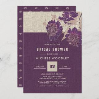 Vintage Floral Design Bridal Shower Invitations