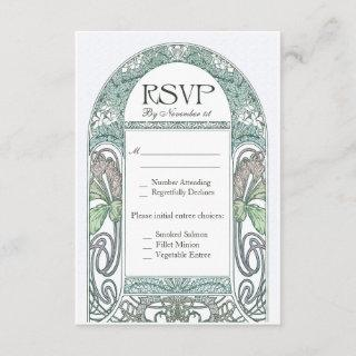 Vintage Floral RSVP Wedding Cards IV