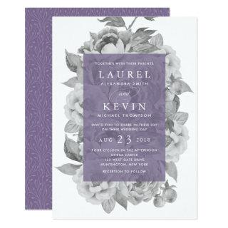 Vintage Floral Wedding Invitations | Violet