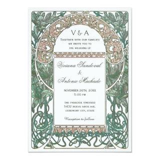 Vintage Floral Wedding Invitations I