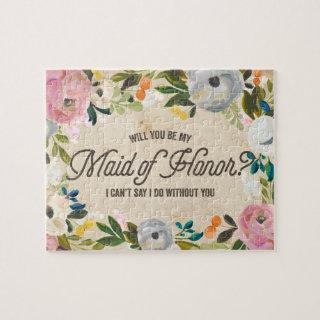Vintage Florals | Maid of Honor Puzzle