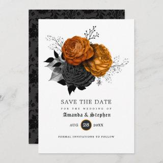 Vintage Gothic Wedding Save The Date