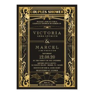 Vintage Great Gatsby Couples Shower Invitations