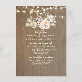 Vintage Key Wedding Information Guest Enclosure Card