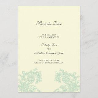 Vintage Lace | Grayed Jade | Save the Date