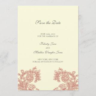 Vintage Lace | Poppy | Save the Date