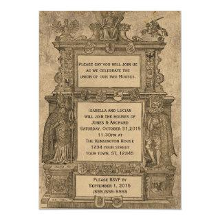 Vintage Medieval Woodcut Gothic Wedding invites