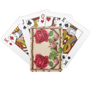 Vintage Old Rose Rustic Victorian Antique Playing Cards