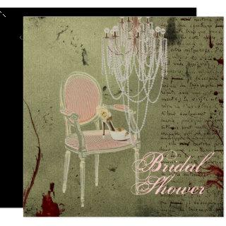 Vintage Paris Chic  Bridal Shower Invitations