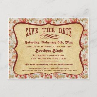 Vintage Party, Reunion or Event Save the Date Announcement Postcard