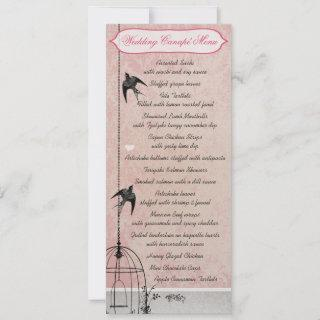 Vintage Pink Damask Bird Cage Save the Date