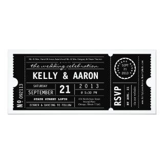 Vintage Playbill Theater Ticket Wedding Invitations