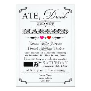 Vintage Poster and Chalkboard Wedding Invitations 4