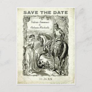 Vintage Romantic Save the Date Postcards