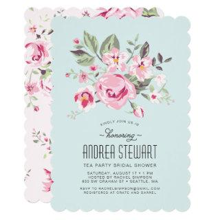 Vintage Rose Party Invitations