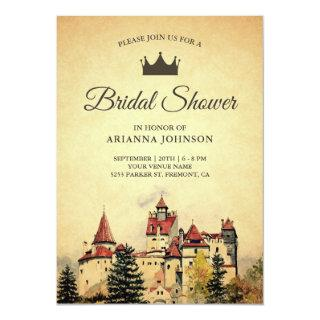 Vintage Royal Fairytale Castle Bridal Shower Invitation